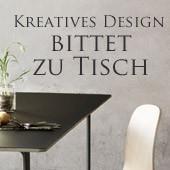 Kreatives Design bittet zu Tisch